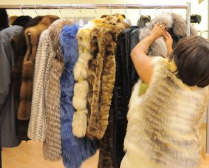 Fur selection for a coat or vest