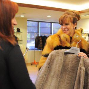 fashionable fur vests and coats