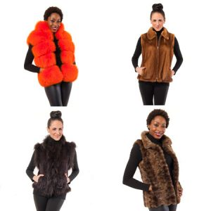 Four Unique Fur Vests