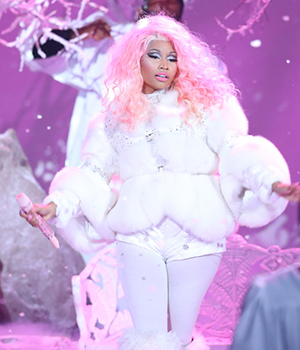 LOS ANGELES, CA - NOVEMBER 18:  Nicki Minaj performs onstage at The 40th American Music Awards held at Nokia Theatre L.A. Live on November 18, 2012 in Los Angeles, California.  (Photo by Michael Tran/FilmMagic)